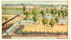 95x007.6 - La Fayette Barracks Baltimore, MD 2, Civil War Illustrations from Winterthur's Magnus Collection